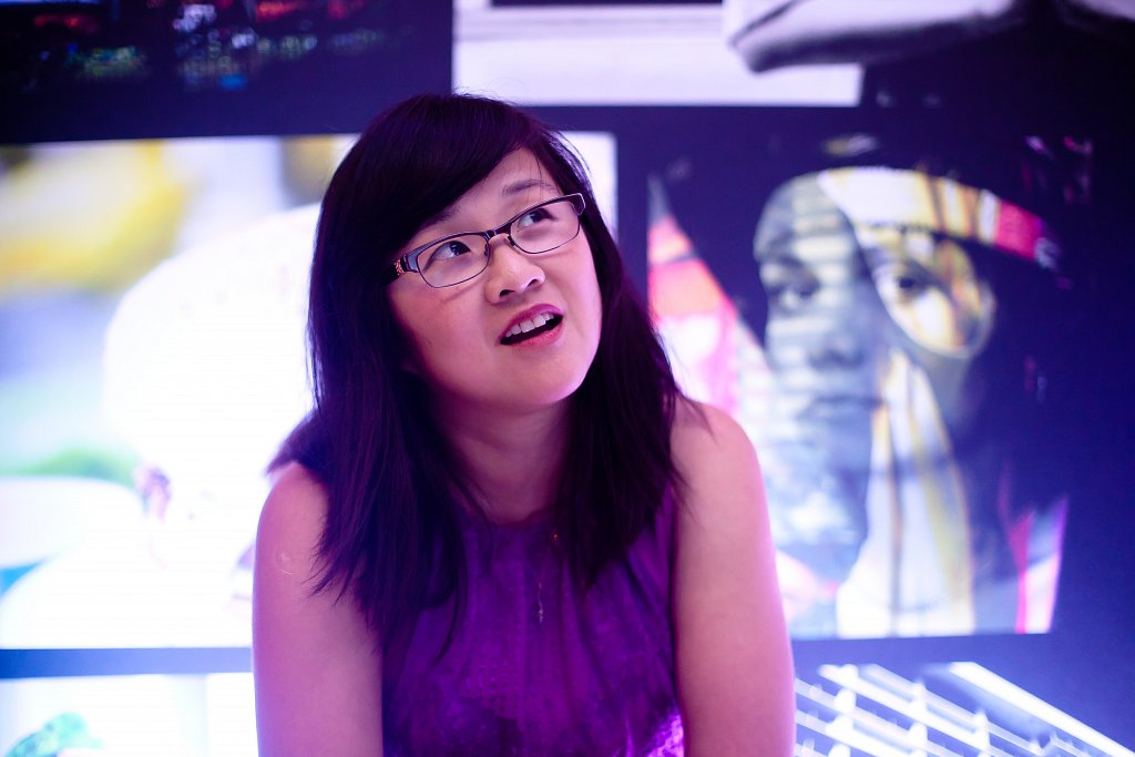 Cindy Li, at the Yahoo Event